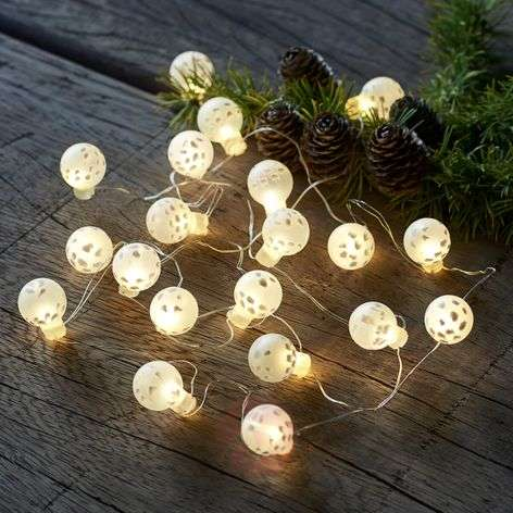 Battery-powered LED string lights Cloudy IO