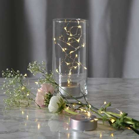 Battery-powered long LED string lights Dew Drop
