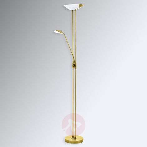 Baya LED floor lamp in a brass look