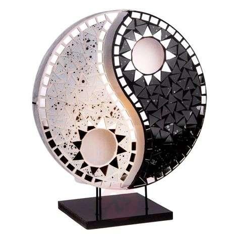 Beautiful design table lamp Ying Yang black white-9655258-31
