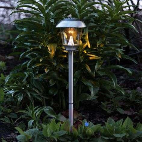 Beautiful LED solar lamp Sarina, steel, 66cm