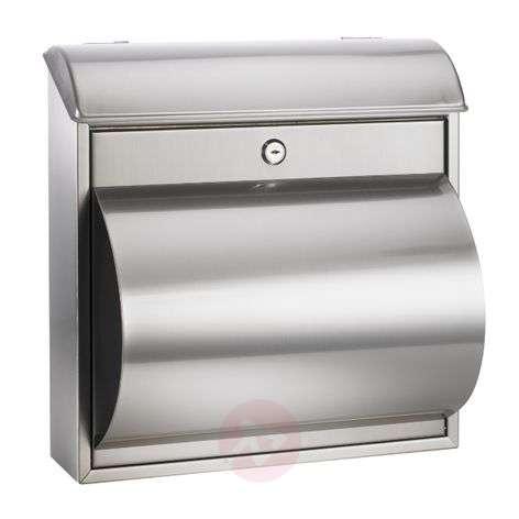 Beautiful letterbox Rain with newspaper box