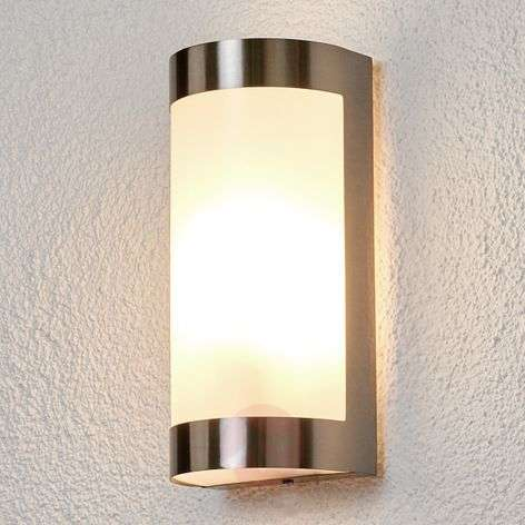 Stainless steel outdoor wall lights lights beautiful stainless steel outdoor wall lamp alvin aloadofball Image collections