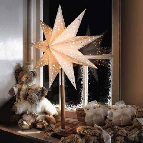 Beautiful star Solvalla as table light, 45 x 64 cm
