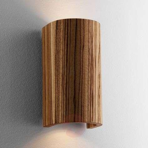 Beautiful Wall Light Tube Zebra Wood 17.5cm