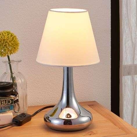 Beautifully-shaped fabric table lamp Henrik