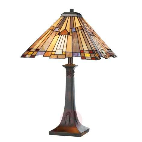 Beautifully shaped Tiffany-style table lamp Esmea