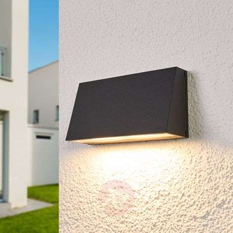 Bega LED outdoor wall light Dennis, aluminium-1566017-31