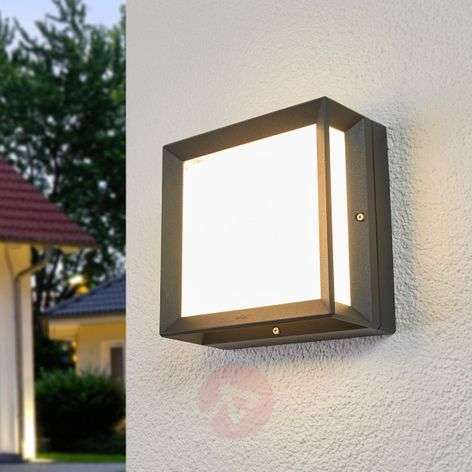 Bega - square LED outdoor wall light Duran IP65