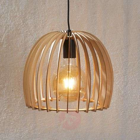 Bela wooden hanging light, Ø 30 cm