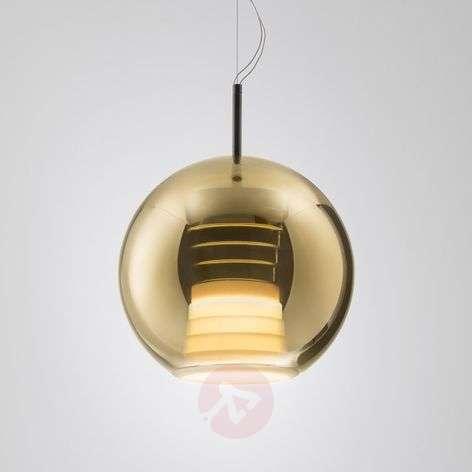 Beluga Royal glass hanging light with LEDs