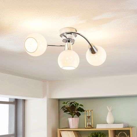 Benedikt LED ceiling light, opal white lampshades