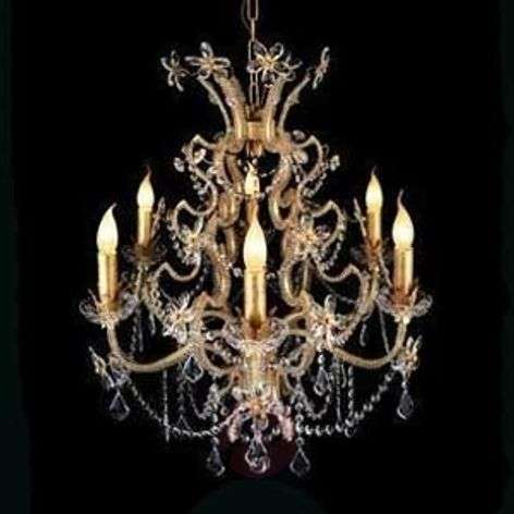BENETTA chandelier, rich in details, 6-bulb-1032224-31