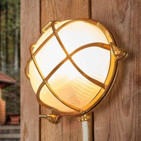 Bengt - outdoor wall light round brass