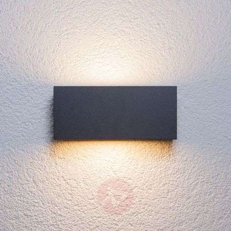 Bente rectangular outdoor wall light, graphite-9616022-31
