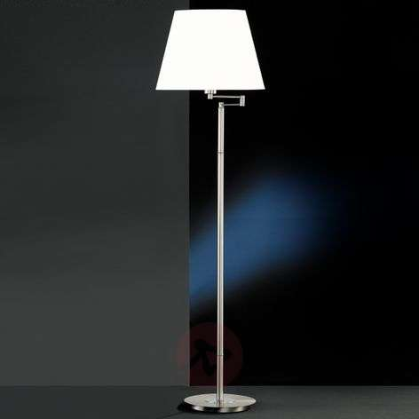 Berlin floor lamp with white fabric lampshade
