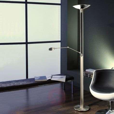 Binia LED uplighter with reading light matt nickel