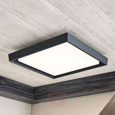 Birta LED outdoor ceiling light, angular, 34 cm