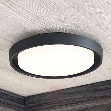 Birta LED outdoor ceiling light, round, 34 cm