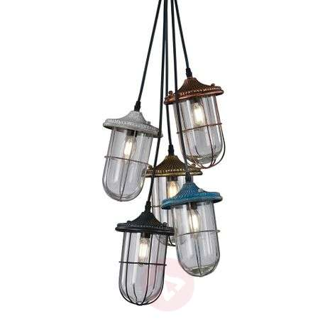 Birte - stylish pendant light, 5-bulb