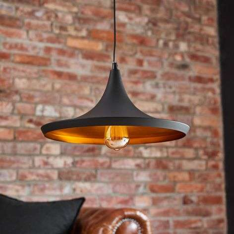 Black and copper-coloured Broadway pendant light-3006296-31