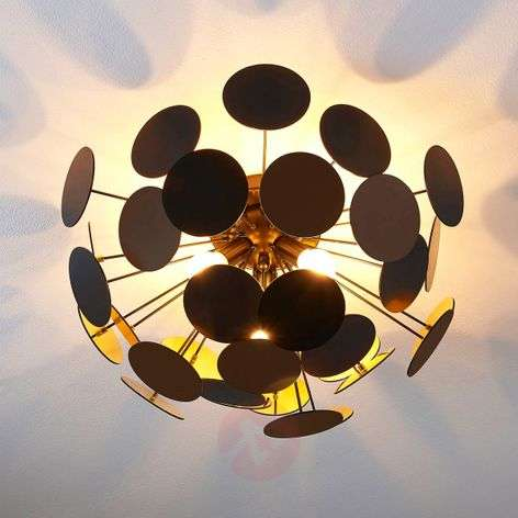 Black and gold ceiling lamp Kinan