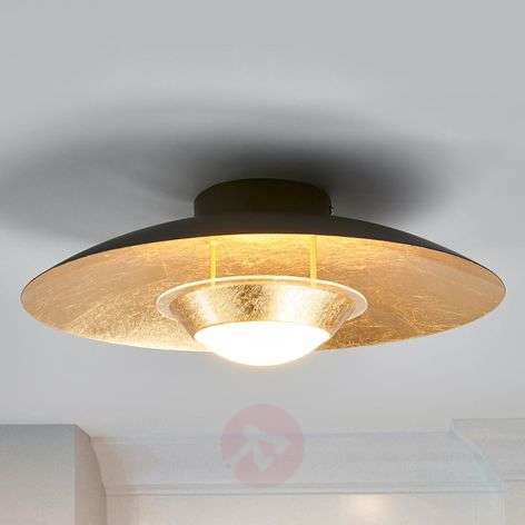 Black and gold LED ceiling light Yasien