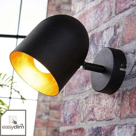 Black and gold LED spotlight Morik, Easydim
