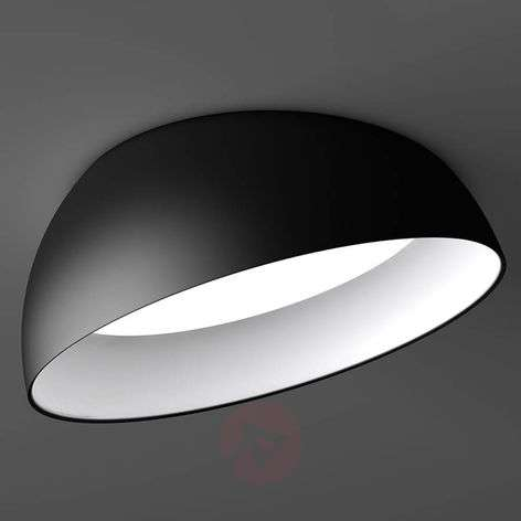 Black & white LED recessed ceiling light Superdome