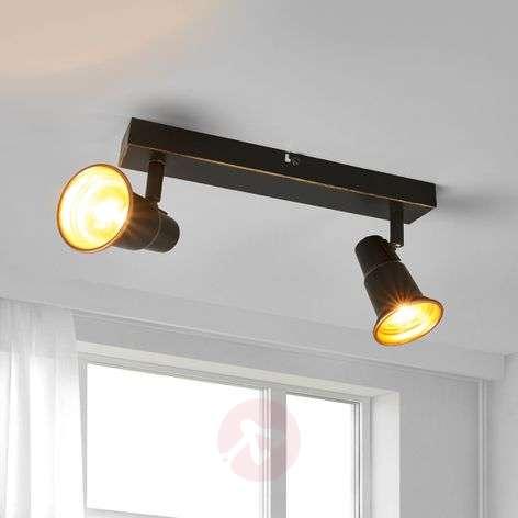 Black ceiling light Arielle, two-bulb