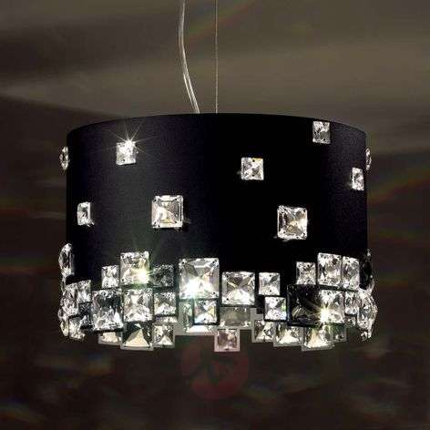 Black crystal pendant light Mosaix