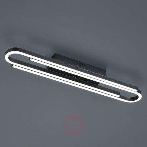 Black dimmable LED ceiling light Marga
