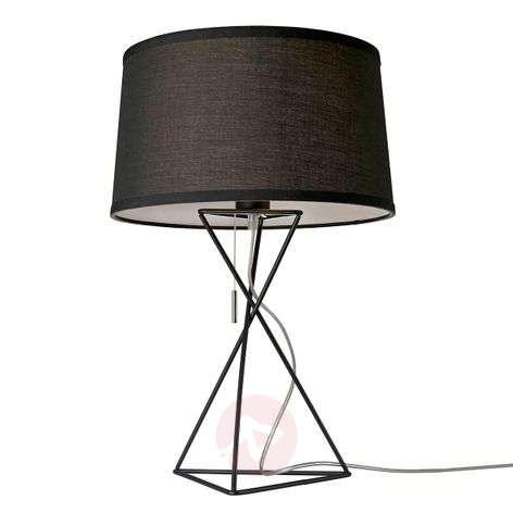 Black fabric table lamp New York