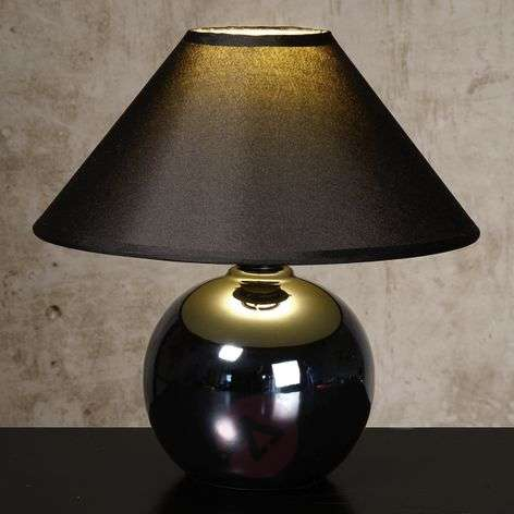 Black Faro table lamp with spherical base