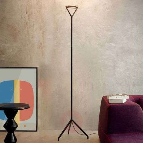 Black floor lamp Lola with dimmer switch