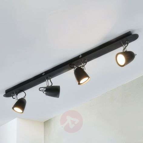 Black four-bulb ceiling lamp Marko