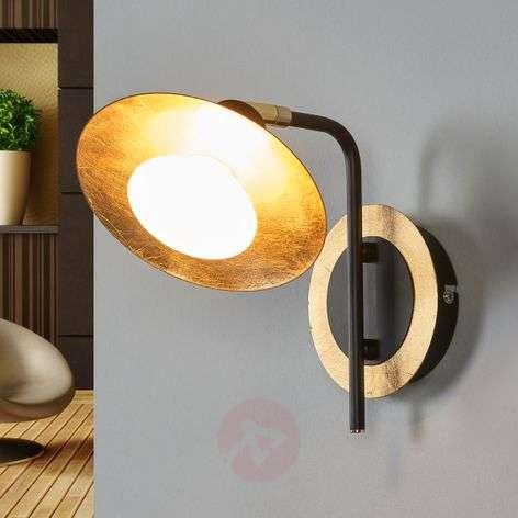 Black-gold LED wall lamp Andrej