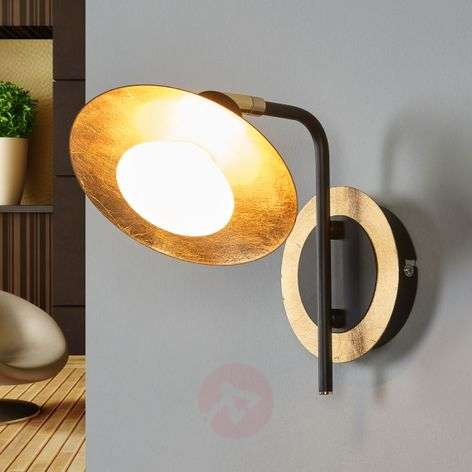 Black-gold LED wall lamp Andrej-9634039-31