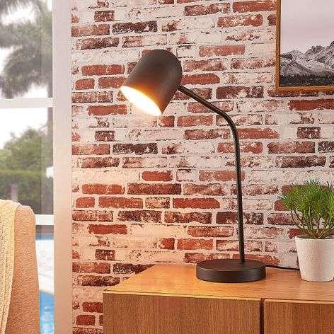 Black-gold metal table lamp Morik