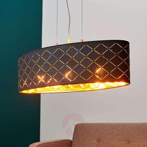 Black-gold pendant lamp Julita, oval