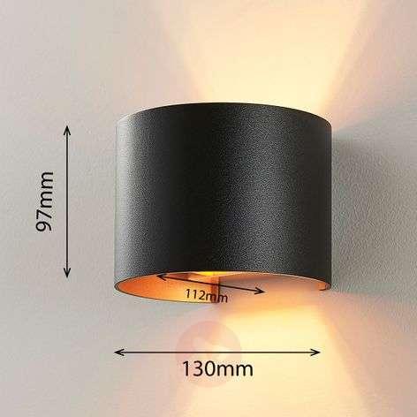 Black-golden LED wall light Zuzana, G9