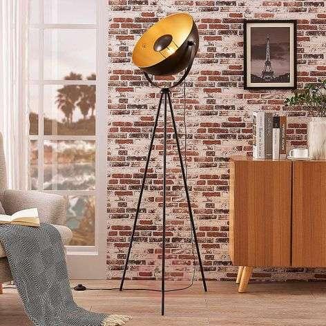 Black-golden tripod floor lamp Meline