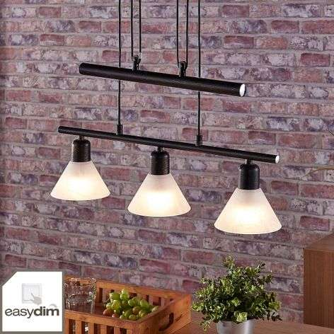Black LED hanging light Eleasa, Easydim