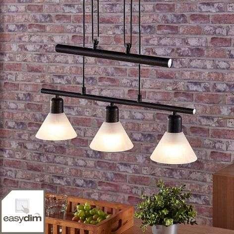 Black LED hanging light Eleasa, Easydim