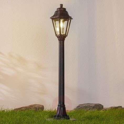 Black LED path light Mizar Anna seawater-resistant