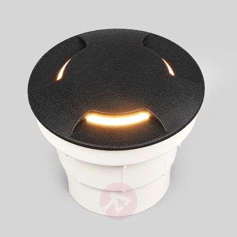 Black LED recessed floor light Ceci 120-3L