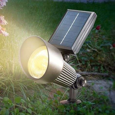 Black LED solar Spotlight with RGB light