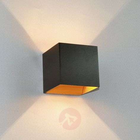 Black LED wall lamp Aldrina, gold inside-9620716-31