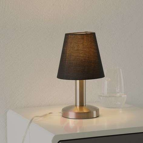 Black Merete table lamp with a touch switch