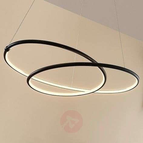 Black modern LED pendant light Mirasu
